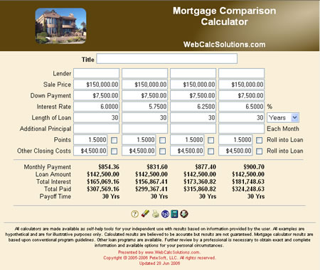 CompareMortgagePayments